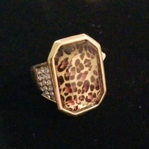 New Gold Leopard Diamond Park Lane Size 10 Ring